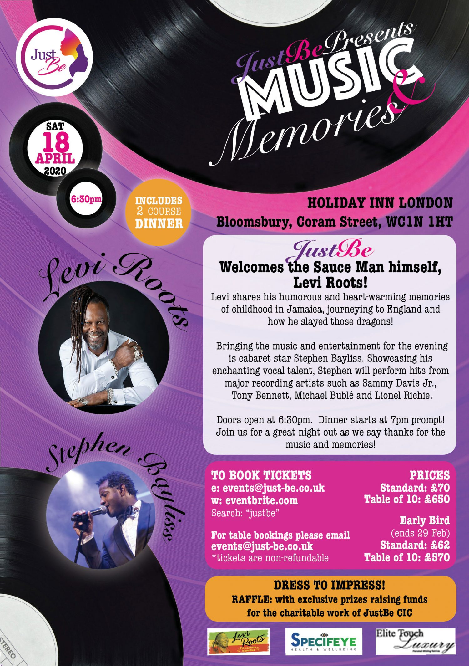 music and memories event flyer