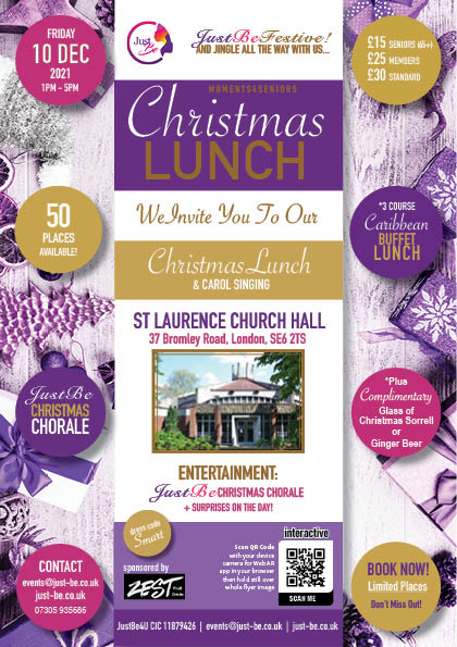 JustBe Christmas Lunch 2021